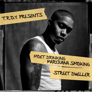 00 VA - Moet Drinking Marijuana Smoking Street Dweller - cover