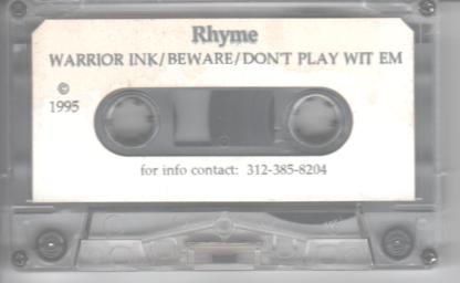 rhyme-warrior ink demo tape